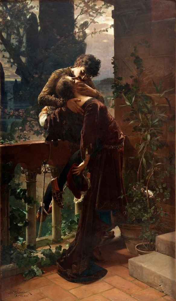 Julius Kronberg Romeo and Juliet on the balcony