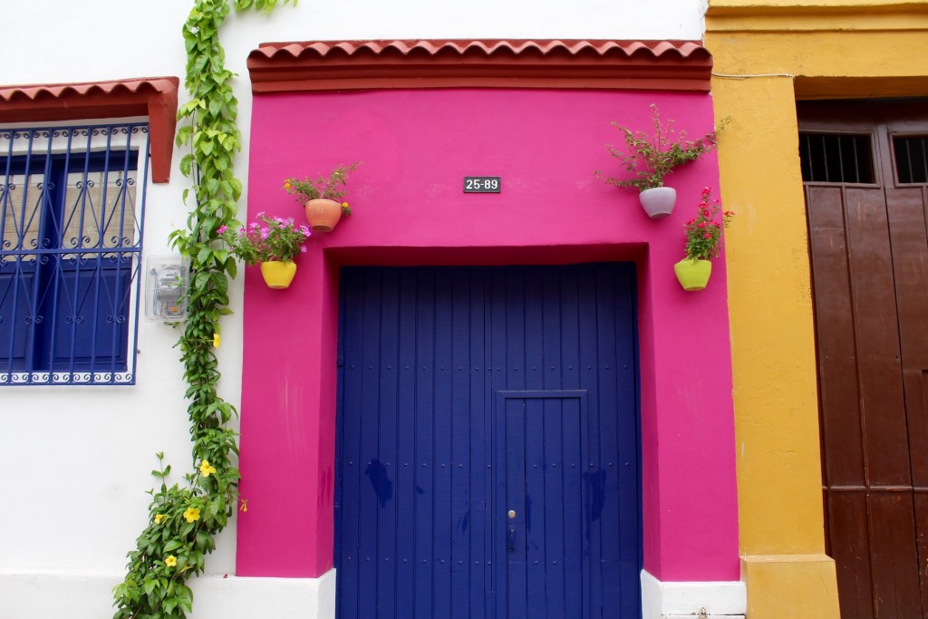 Coloured houses in Getsemani Cartagena
