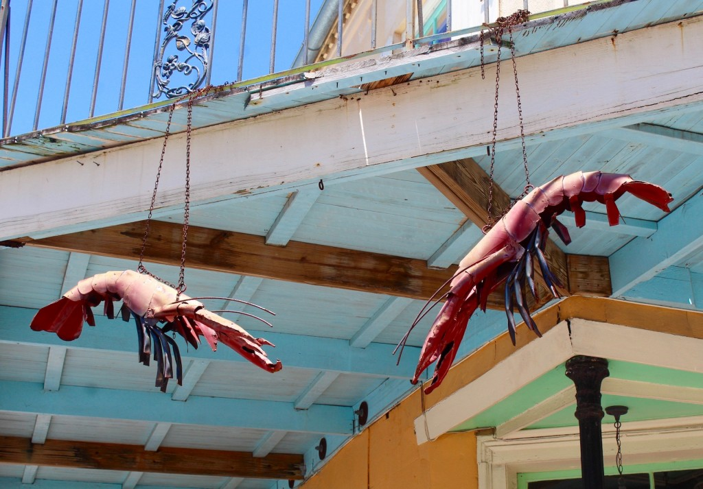 Crawfish sculptures in New Orleans