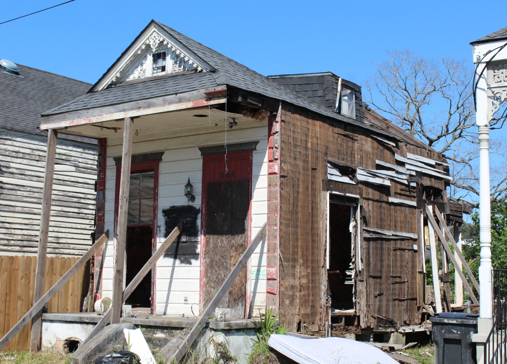 House damaged by Katrina in Lower Ninth Ward