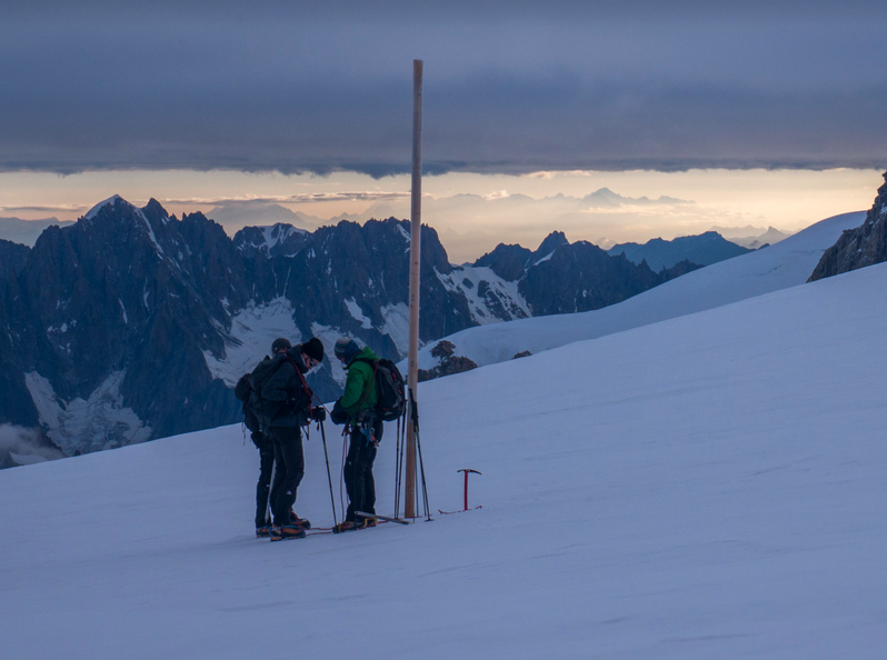 Hikers on Mont Blanc