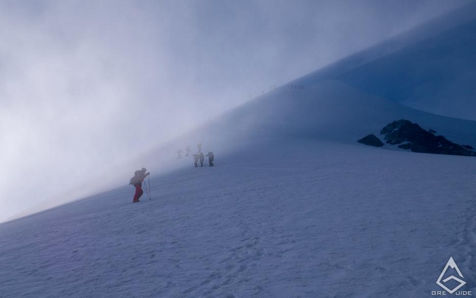 Mont Blanc in Fog