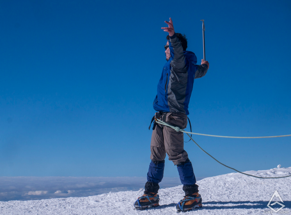 Reaching the top of Mont Blanc