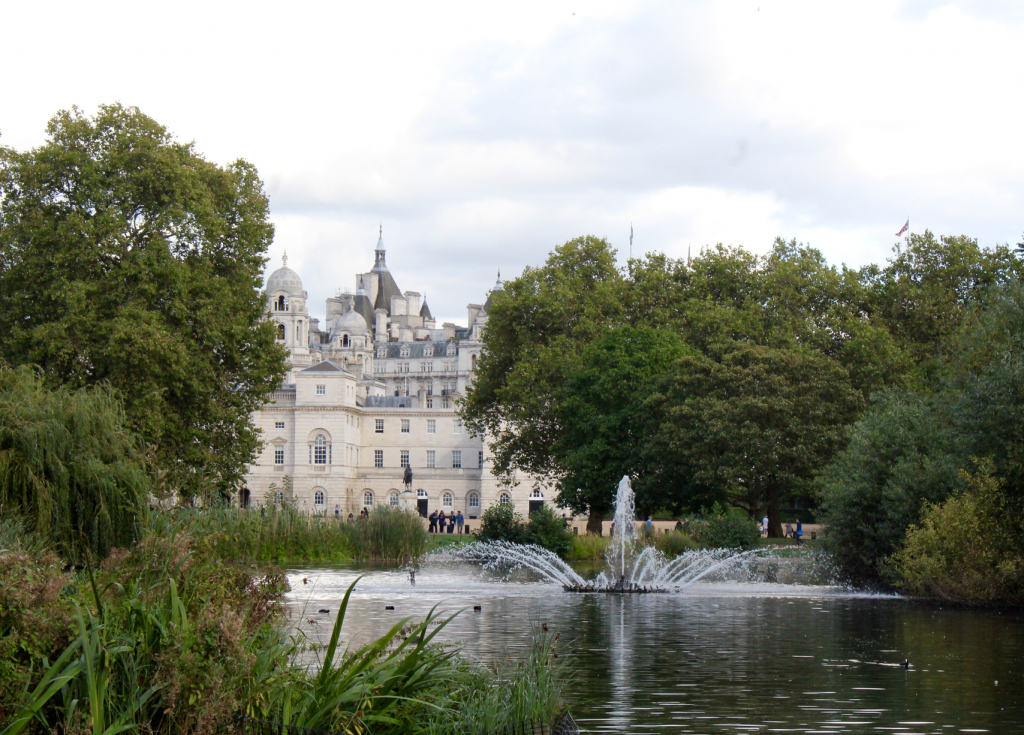 View of Whitehall from St James Park